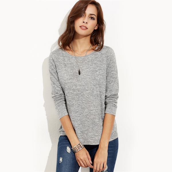 Crossover Back Gray Top
