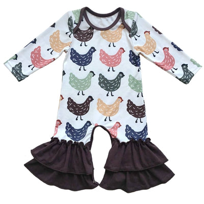 Cute Baby Ruffled Rompers