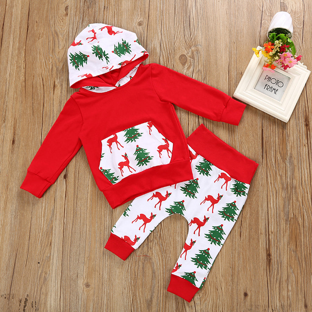 boys christmas outfits baby boy reindeer hoodies sets