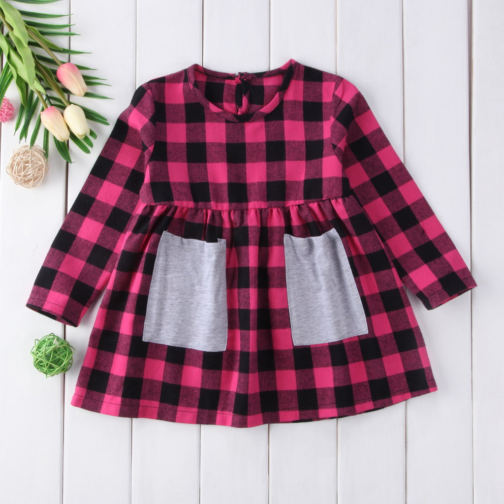 cute plaid boutique dress for girls