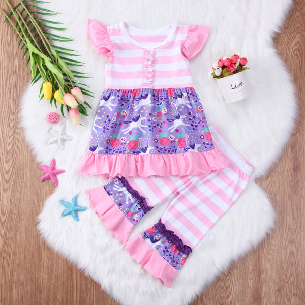 pink and purple unicorn outfit for babies and toddlers, cute boutique unicorn outfits, spring boutique
