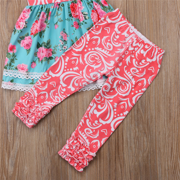 Floral Paisley Print Spring Set