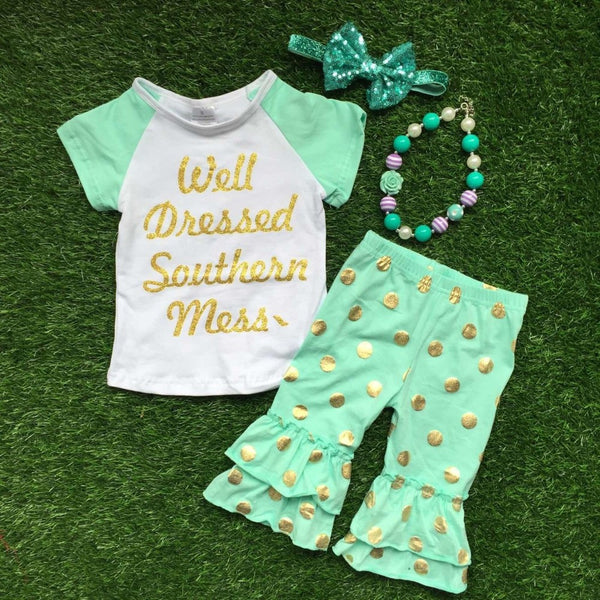 Well Dressed Southern Mess Capri Set