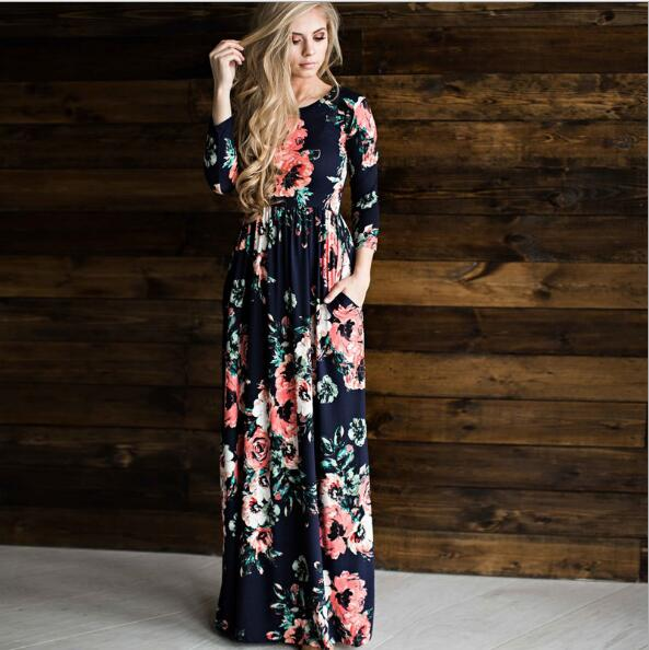 gorgeous floral maxi, fall maxis, long maxi
