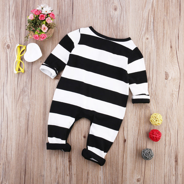 Boys Striped Pocket Romper