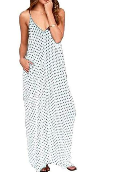 Summer Polka Dot Maxi