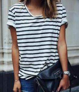 cute striped summer shirts, comfy tshirt for ladies and women, boutique for less