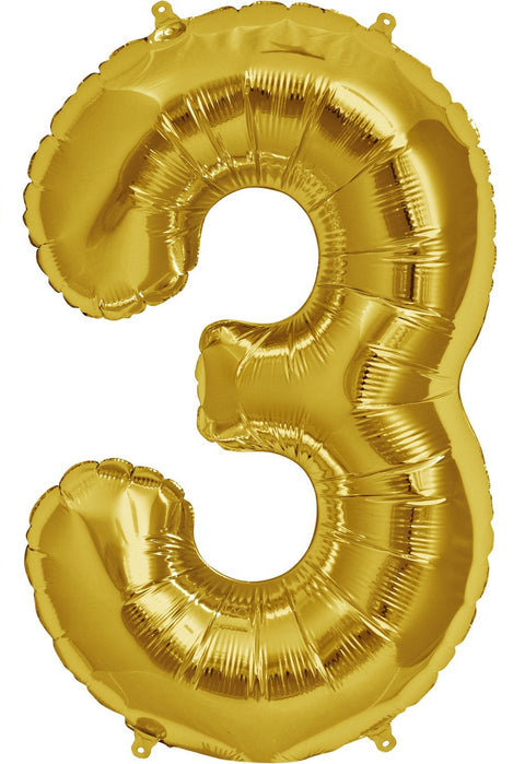 "34"" Gold Jumbo Number Balloon"