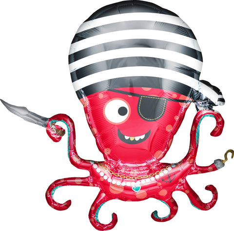 Pirate Octopus Mylar Balloon