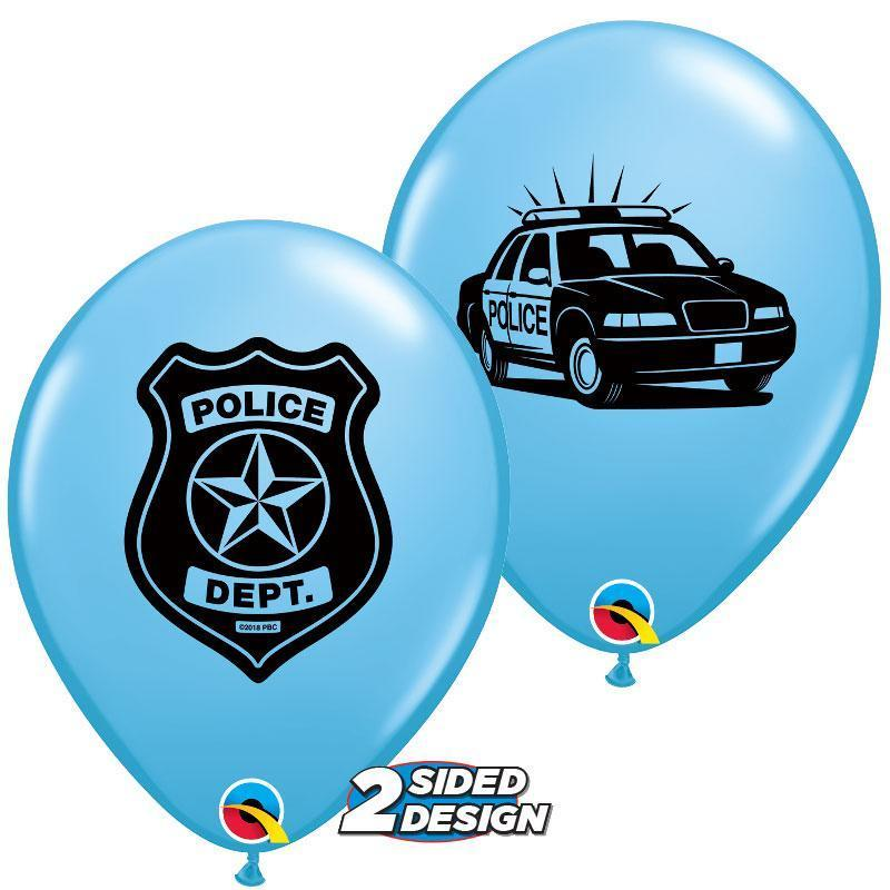 Police Dept Latex Balloons (6-pack)
