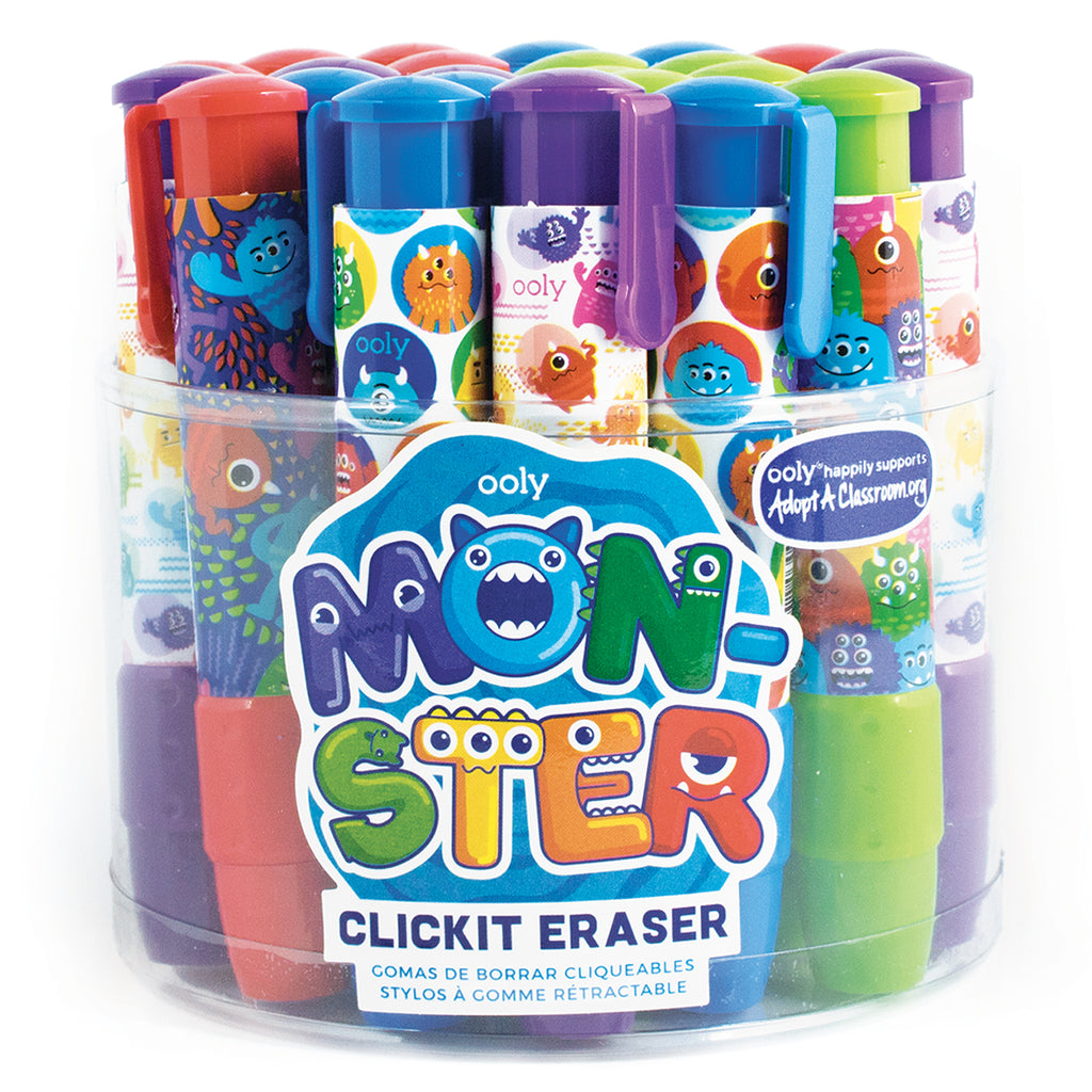 Monster Fun Click-It Erasers