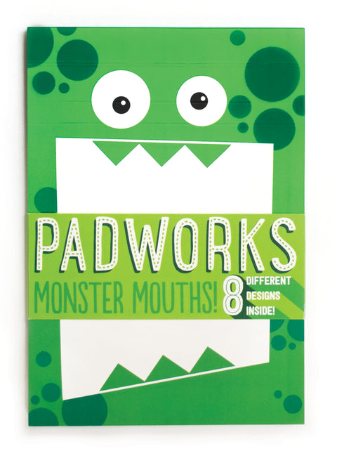 Fold Over Notepad in Monster Mouths