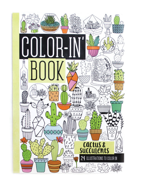 Coloring Book Cactus & Succulents (Travel Size)