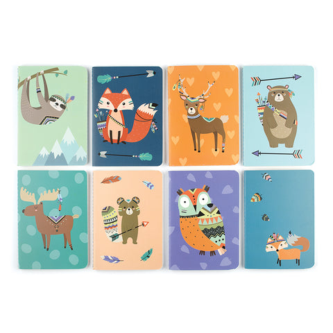 Mini Pocket Pal Journals in Forest Friends (8-Pack)