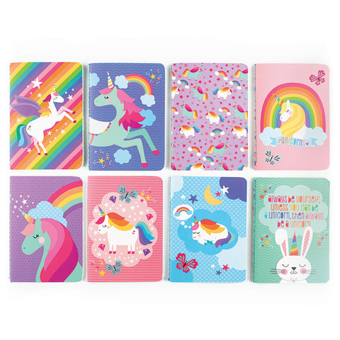 Mini Pocket Pal Journals in Unique Unicorns (8-Pack)