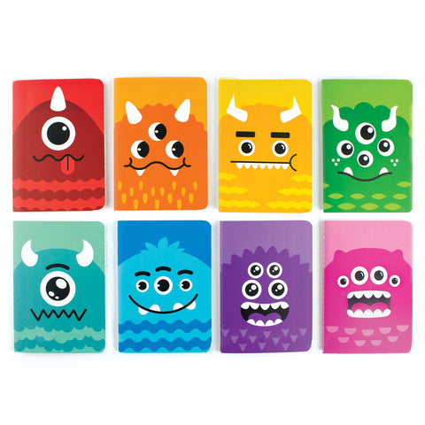 Mini Pocket Pal Journals in Cute Monsters (8-Pack)