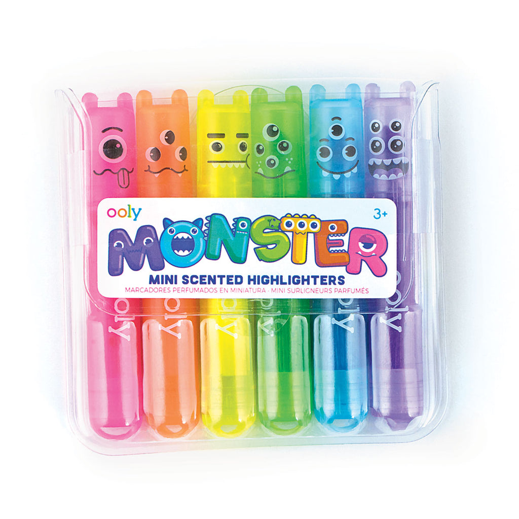 Mini Monster Scented Highlighters (6-pack)