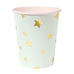 Colorful Gold Star Paper Cups