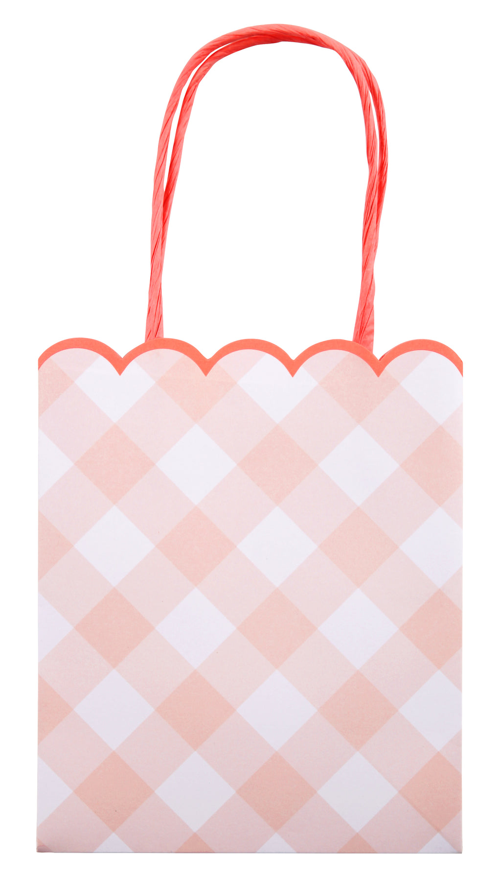 Pink Gingham Party Favor Bags (8-pack)