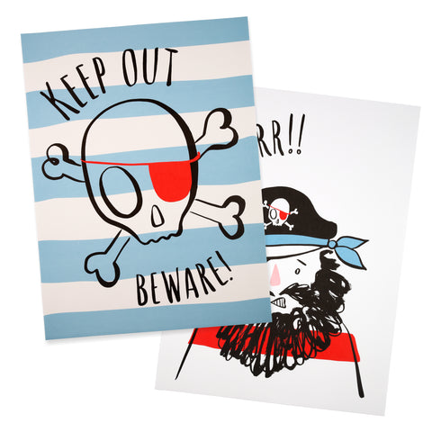 Pirate Party Art Prints (2-pack)