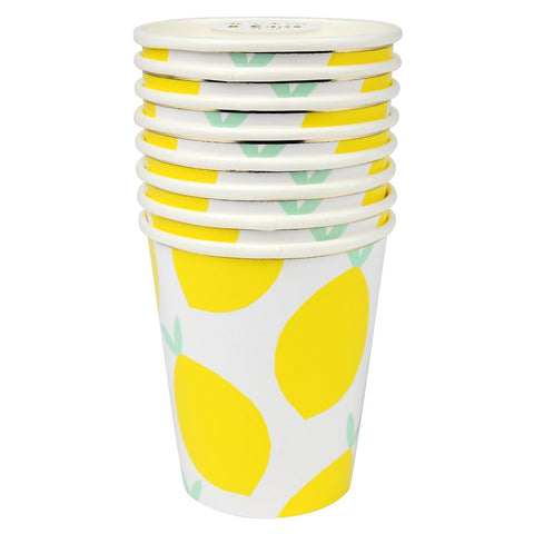 Lemon Party Paper Cups