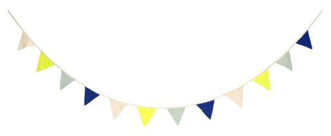 Knitted Fabric Flag Garland