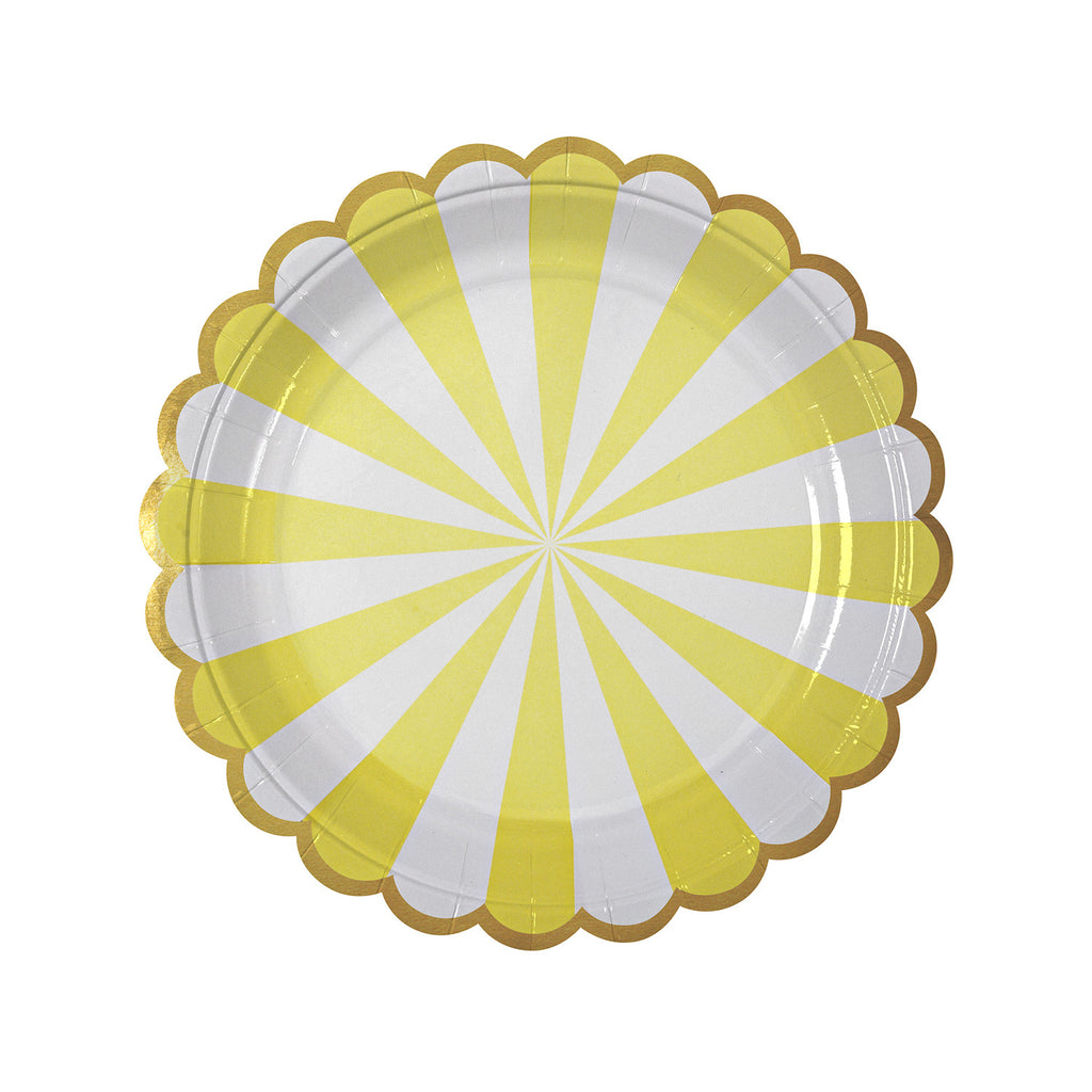 Stripe Paper Plates (Small) in Yellow