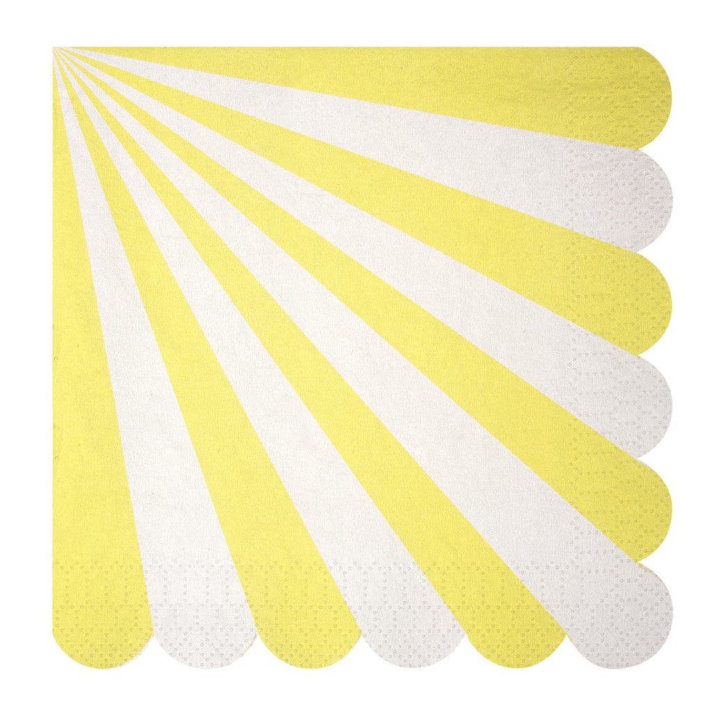 Stripe Napkins (Large) in Yellow