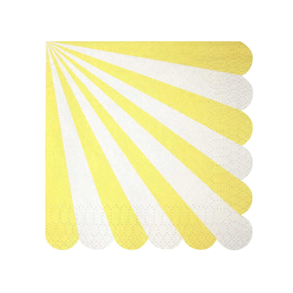 Stripe Napkins (Small) in Yellow