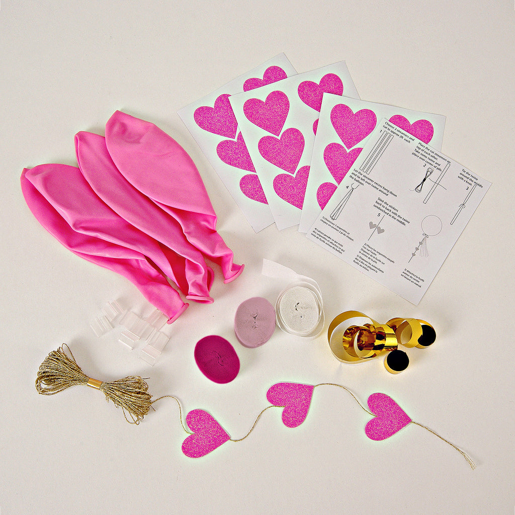 Beautiful Balloon Kit in Pink (8-pack)