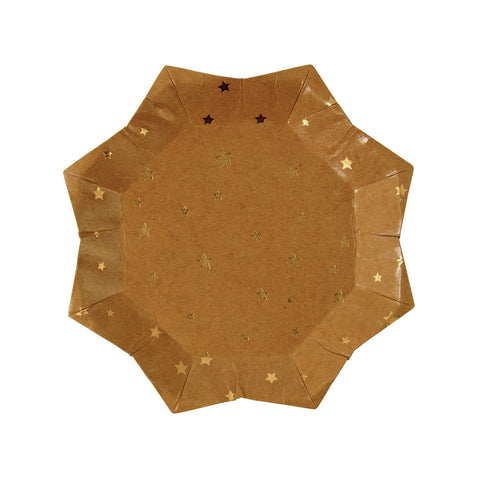 Gold Star Kraft Paper Plates (Small)
