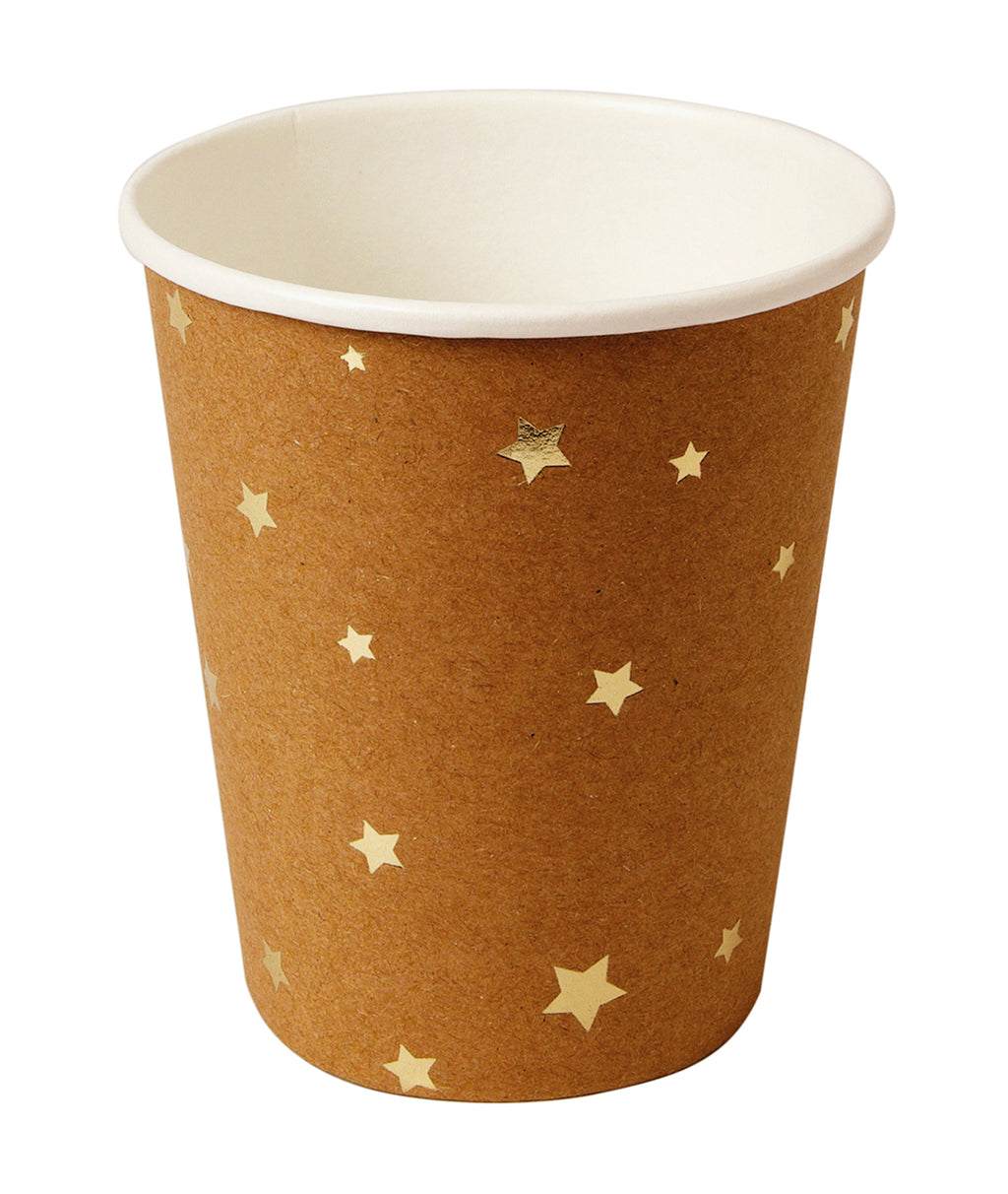 Gold Star Kraft Paper Cups