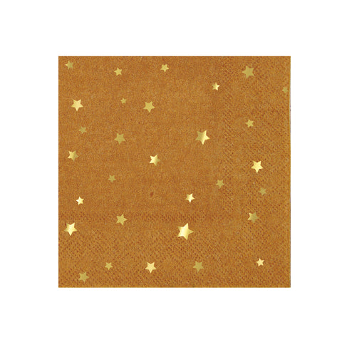 Gold Star Kraft Napkins (Small)