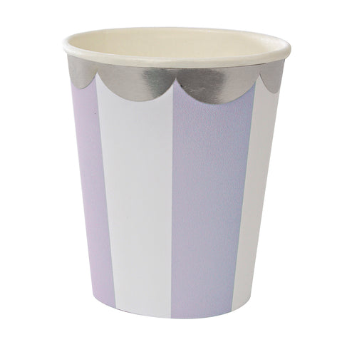Stripe Paper Cups in Lavender
