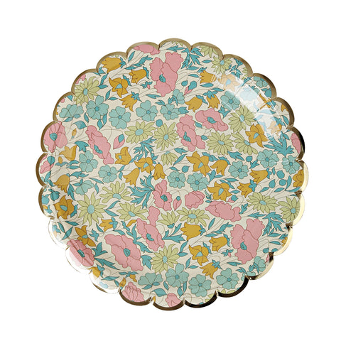 Liberty Poppy and Daisy Paper Plates (Small)