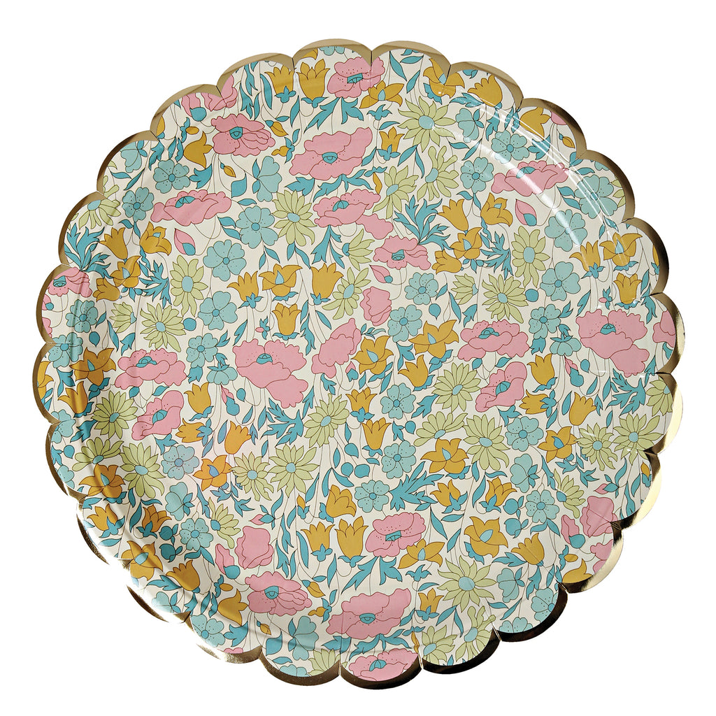 Liberty Poppy and Daisy Paper Plates (Large)