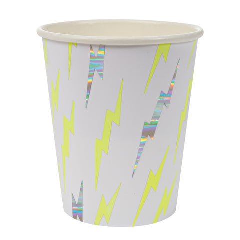 Superhero Lightning Bolt Paper Cups