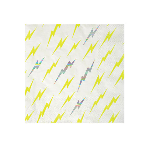 Superhero Lightning Bolt Napkins (Small)