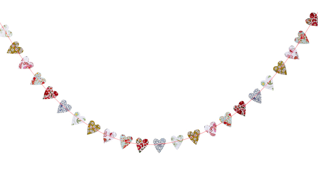 Mini Heart Garland in Assorted Liberty Prints