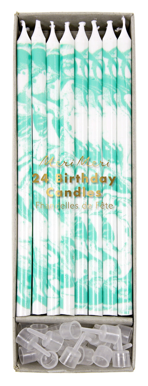 Marble Candles in Mint