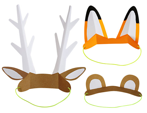 Paper Animal Ears Party Hats (8-pack)