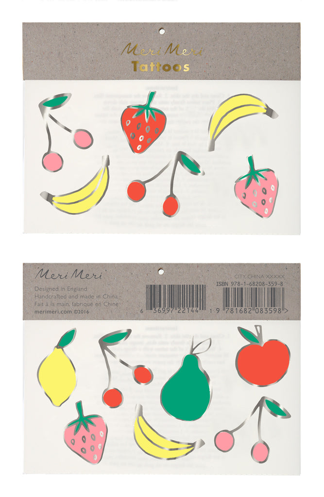 Neon Foil Fruit Tattoos