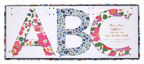 Liberty DIY Letter Garland Kit