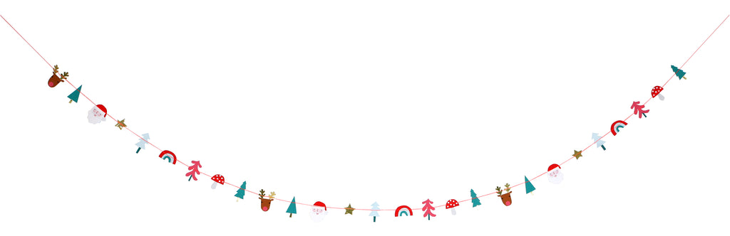 Christmas Garland in Festive Icons