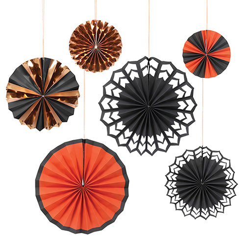 Halloween Pinwheel Party Fans (6-pack)