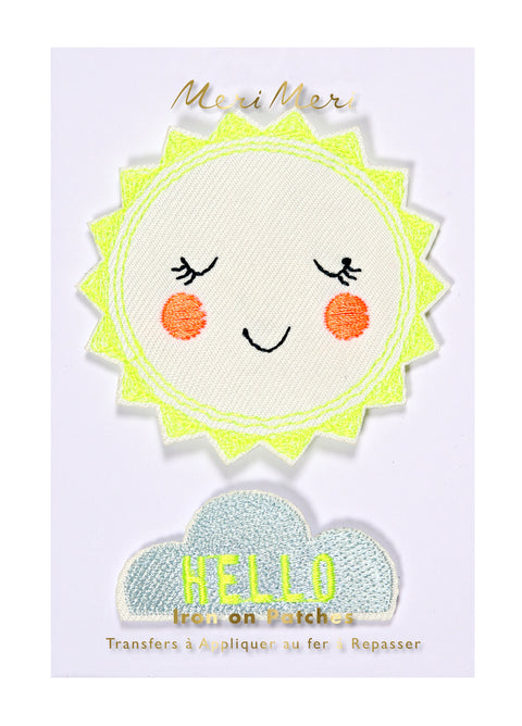 Hello Sunshine Happy Iron-On Patches