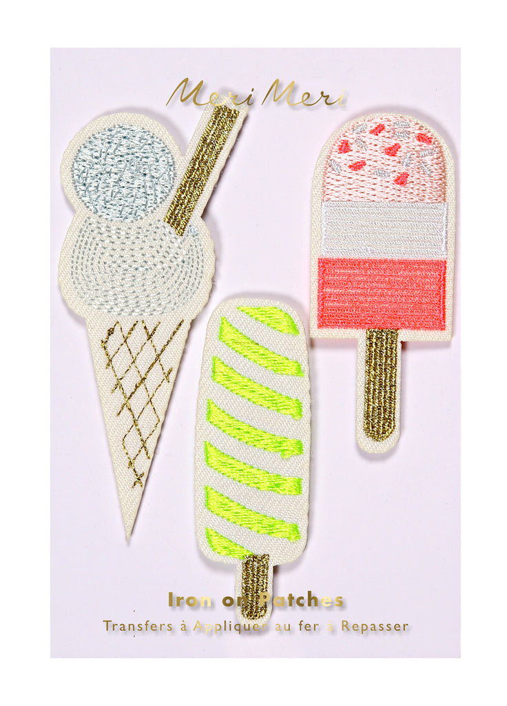 Ice Cream and Popsicle Iron-On Patches