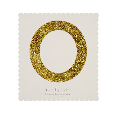 Gold Glitter Number Stickers