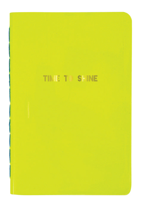 Time to Shine Bright Neon Yellow Notebook