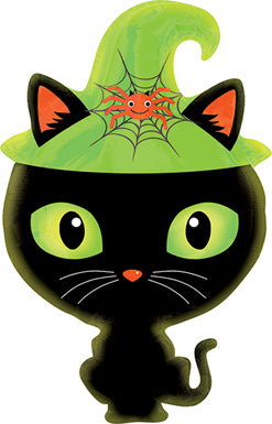 Halloween Black Kitty Mylar Balloon